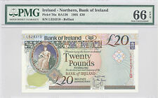 1995 Ireland - Northern, Bank of Ireland 20 Pounds PMG 66 EPQ GEM  UNC P#: 76a