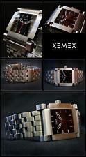 "XEMEX  HERREN UHR AUTOMATIK UHRWERK 2892-A2 AVENUE ""QUARTER""  !! ALL STEEL  NEU"