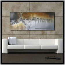 ABSTRACT PAINTING CANVAS WALL ART 60in. Signed USA     ELOISExxx
