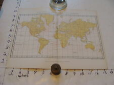 vintage map ISOTHERMS TEMPETATURE WORLD MAP