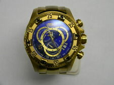 INVICTA Reserve Chronograph Blue Dial Gold Plated Stainless Steel WATCH - 6469