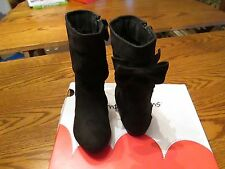 Jumping Beans Mia Black Bow Boots Toddler Girl Size 5, New