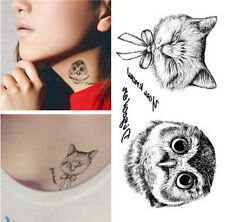 Unisex small Temporary Tattoo Waterproof Removable owl Stickers Body Art Tatoo