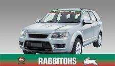 62593 SOUTH SYDNEY RABBITOHS COLOUR VISOR BLOCK OUT DECAL NRL CAR STICKER ITAG