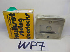 Kwikset Square Pocket Door Privacy 333 5CP Antique Brass New Sliding Lock