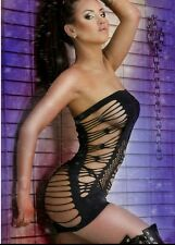 One Size Plus Size Mini Dress Black Sexy Exotic Lingerie Clubwear #17 Fetish USA