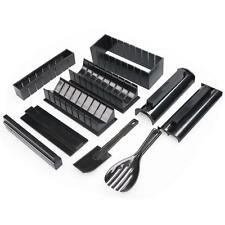 Rice Mold 10 Sets Of Simple To Use Multi-shaped Sushi Mold Black PE Easy To Use