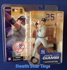 McFarlane MLB Jason Giambi Yankees White Jersey 100th Patch Double Variant Chase