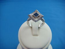 18K GOLD UNIQUE 1 CT T.W. DIAMONDS AND SAPPHIRE DESIGNER RING HIGH END