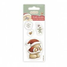 Forever Friends 50 x 100mm Mini Clear Stamp - Christmas Kraft Notes - Mistletoe