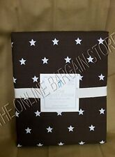 Pottery Barn Kids PBK Organic Star Bed Dorm Duvet Cover Twin Chocolate