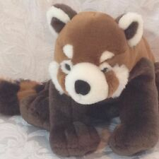 "Raccoon Plush Brown White Stripe Tail 10"" Soft Cuddly Slightly Floppy Sanitized"