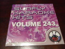 SUNFLY HITS KARAOKE  DISC SF243 VOLUME 243 CD+G SEALED 15 TRACKS