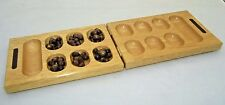 Folding Mancala Jumping Game Board with Wood Pieces  - Lillian Vernon