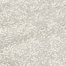 Lined White AB Delica Miyuki 11/0 Seed Beads 7.2 Grams