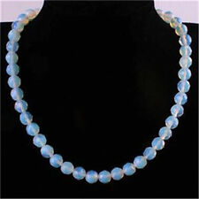 10mm AAA+++ Moonstone Faceted Round Gems Beads Necklace 18''