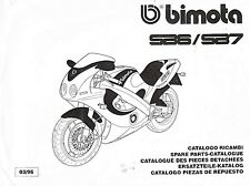 COPIA CATALOGO RICAMBI BIMOTA SB6 SB7 COPY SPARE PARTS CATALOGUE MULTILANGUAGES
