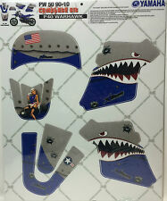 AMR Racing Graphic Decal Kit Sale For Yamaha PW 50 MX 90-10 P40-WARHAWK BLUE