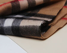NWT Auth BURBERRY Heritage Giant Scarf Fringed 100% CASHMERE Camel Check**