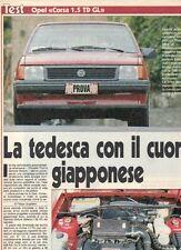 SP67 Clipping-Ritaglio 1988 Test Opel Corsa 1.5 TD GL La tedesca con il cuore..