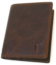 Slim Wallets For Mens Leather Credit Card Wallet Vintage Retro Brown MJ3822