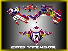Yamaha YFZ 450R 14-15  SEMI CUSTOM GRAPHICS KIT WAVER1