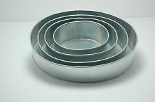 "4 TIER PROFESSIONAL OVAL WEDDING CAKE TINS 6"" 8""10""12"""
