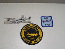 Lot Of 3 Airplane Patches Aviation 1990 Lorain County Ohio Airshow C-A-F P-51