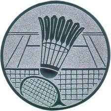 100 große Embleme Badminton gold  D:50mm (für Medaillen Pokale Pokal Medaille)