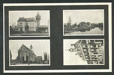 Sneek  Jeugdherberg, Franeker vaart, Grote kerk, Stadhuis
