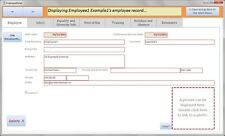 HR Employee / Staff / Personnel Database with Absence/Holiday, Training Tracker