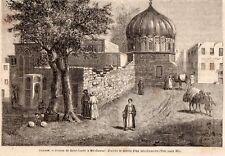IMAGE 1889 ENGRAVING EGYPTE EGYPT MIT CAMAR PRISON SAINT LOUIS