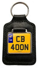 Honda Cb 400N Cherished Number Plate Motorcycle Leather Keyring Gift
