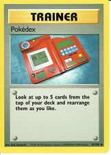 POKEMON BASE SET 1 UNCOMMON CARD 87/102 POKEDEX (X4 COPIES) grade 9/10