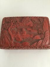 CHINESE CINNABAR LACQUER BOX LATE 19th/EARLY 20th CENTURY/CLOISONNÉ ENAMEL