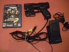 SONY PLAYSTATION 2 PS2 LOGIC3 P99L LASER BLASTER LIGHTGUN + FOOT PEDAL + GAME