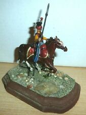 54MM METAL MOUNTED OTTOMAN CAVALRYMAN,TATAR / JANISSARY, Circa 1700? 54mm A
