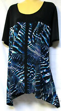 plus sz XXS/ 12 TS TAKING SHAPE Off Road Tunic funky mod stretch draping top NWT