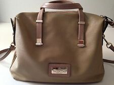 Valentino Garavani Rockstud Satchel  Handbag Crossbody Beige Leather PVC
