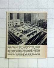 1957 Mellon Square In The Centre Of Pittsburgh, Above Car Park