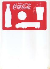 COCA-COLA LOT OF (3) DIECUT PLASTIC STENCILS COOL!! NEW