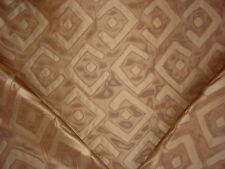 15+Y Scalamandre 26751 Kuba Brown Gold Transitional Silk Sheer Upholstery Fabric