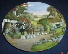 Royal Doulton Limited Edition Collectors Plate OFF TO THE FIELDS Shire Horse