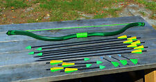 Green Arrow Recurve Bow (60#) and 14 Assorted Arrows for Cosplay