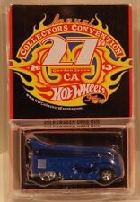 Hot Wheels 27th Convention Volkswagen Drag Bus VW Blue w/Flames Only 4000 Made