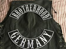 Brotherhood Germany Patch Banner XL Set je 39x8,7 cm Biker Kutte MC ohne Kutte