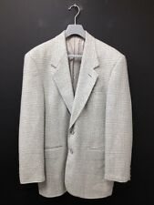 Pierre Sangan - Grey Mix Check Two Buttoned Woolly Suit Jacket Uk L (R383)
