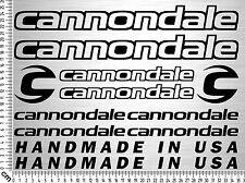 CANNONDALE Set 1 | Fahrrad Rahmen Aufkleber | Bike Frame Sticker | 12 Decals