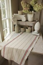 1 VINTAGE French cotton hemp stripe Towel kitchen cloth napkin UNUSED Vintage
