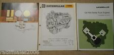 1970's Caterpillar 1100 Series Truck Engine Brochures Diesel Cat